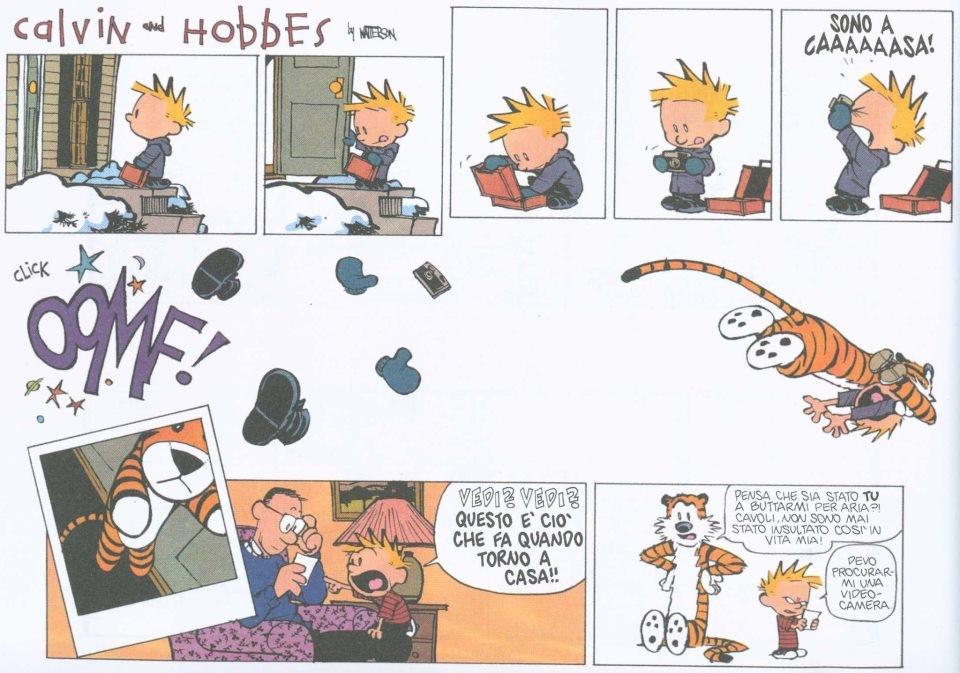 L'oggetto transizionale di Calvin si trasforma nel suo amico immaginario hobbes